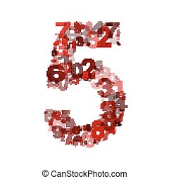 Vector number five from numbers.