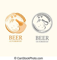 Vector octoberfest logos