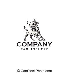 Vector of a bull design on white background. Wild Animals. Easy editable layered vector illustration.