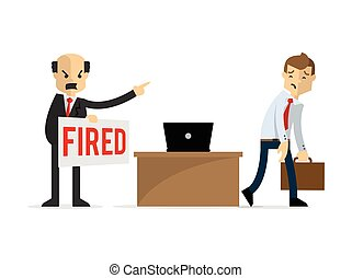 Vector of a businessman getting fired