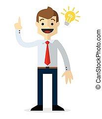 Vector of a businessman with an idea