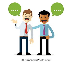 Vector of a businessmen chatting