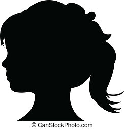 Vector of a Child Silhouette