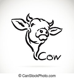 Vector of a cow logo on white background.