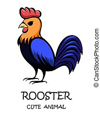 Vector of a cute rooster eps 10.