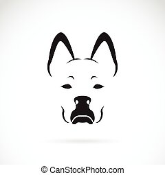 Vector of a dog face on white background. Pet