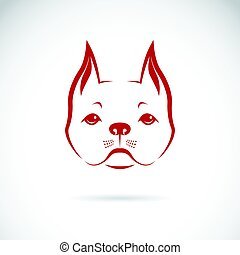 Vector of a dog face on white background.