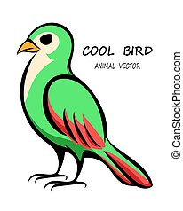 Vector of a green bird eps 10