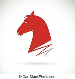 Vector of a horse haed. - Vector of a horse haed on white...