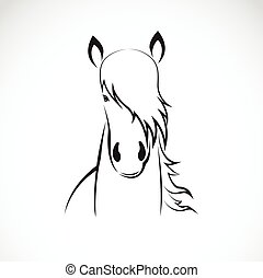 Vector of a horse head design on white background, Horse Logo. Wild Animals. Vector illustration. Icon.