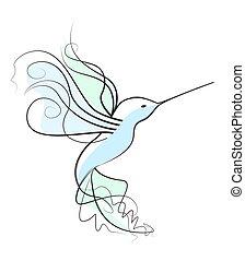 Vector of a hummingbird