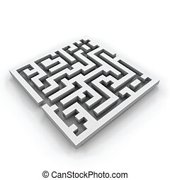 Vector of a maze (labyrinth)