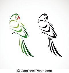 Vector of a parrot design on white background. Bird Icon. Wild Animals. Parrot icon or logo. Easy editable layered vector illustration.