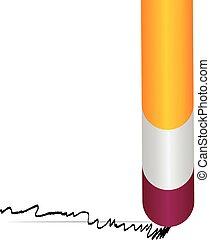 Vector of a pencil