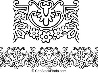 Victorian style repeating border - Vector of a stylized ...