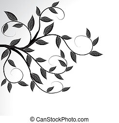Vector of a tree branch silhouette