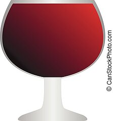 Vector of a wine glass