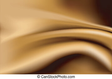 Vector of abstract gold silk fabric