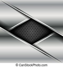 Vector of abstract metallic background .