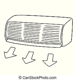 vector of air conditioner
