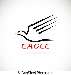 Vector of an eagle design on white background. Bird. Animals.