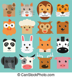 Vector of Animal set