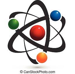 Vector of atom logo illustration