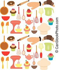 Vector of Bakery tools