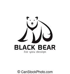 Vector of bear design on white background. Wild Animals. Bear logo or icon. Easy editable layered vector illustration.