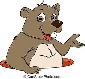 Vector of bear gesturing.