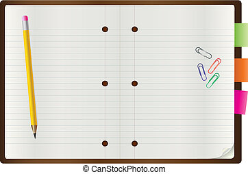 Vector of blank notepad