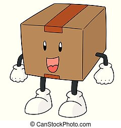 vector of box cartoon