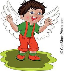 Vector of boy with his wings.
