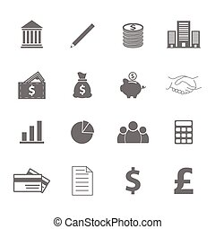 vector of business icons