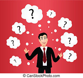 vector of businessman with question marks