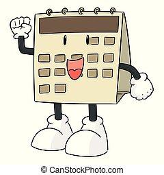 vector of calendar cartoon