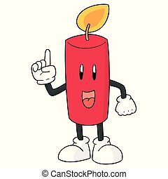 vector of candle cartoon