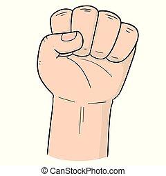 vector of cartoon fist