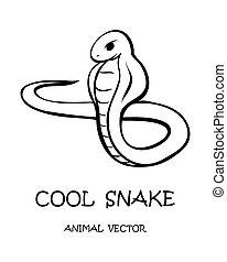 Vector of cartoon snake eps 10.