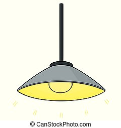 vector of ceiling lamp