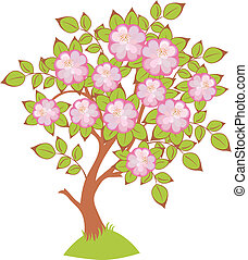 vector of cherry blossoms