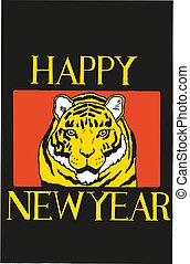 Vector of chinese new year of the tiger
