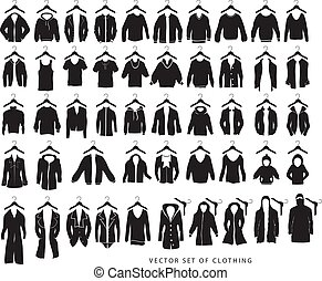 Vector of clothing isolated on white background