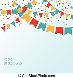 Vector of Colorful Garlands