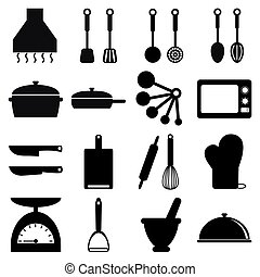vector of cooking icon set