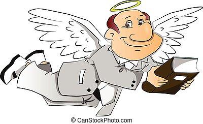 Vector of corporate angel.