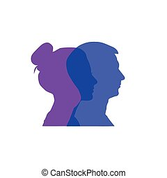 Vector of Couple's silhouette