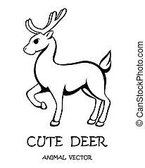 Vector of cute deer eps 10.