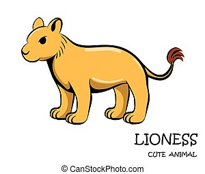 Vector of cute lioness eps 10.