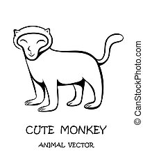 Vector of cute monkey eps 10.